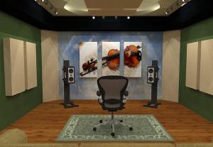 GIK Acoustics Room Layout w art panels