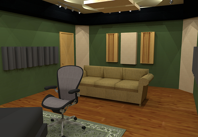 GIK Acoustics Room Layout w diffusors